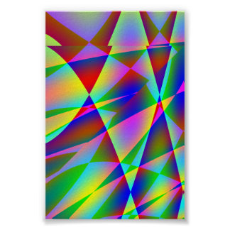 Rainbow Geo Poster