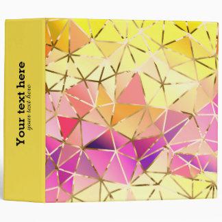 Rainbow geometric pattern binder