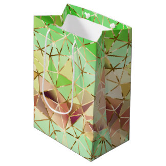 Rainbow geometric pattern medium gift bag