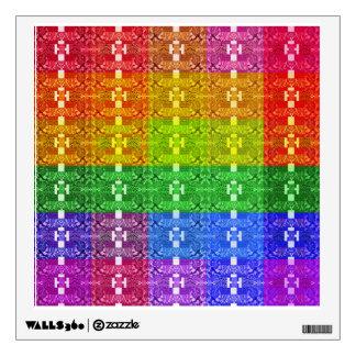 Rainbow Geometric Pattern Sticker