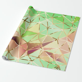 Rainbow geometric pattern wrapping paper