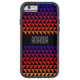 Rainbow Geometric Triangle Pattern Tough Xtreme iPhone 6 Case