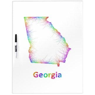 Rainbow Georgia map Dry Erase Whiteboards