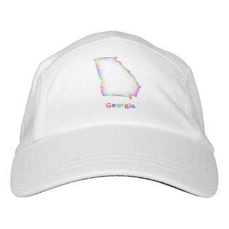 Rainbow Georgia map Headsweats Hat