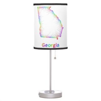 Rainbow Georgia map Table Lamp