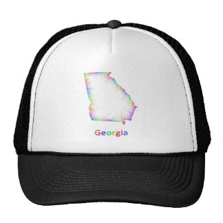 Rainbow Georgia map Trucker Hat