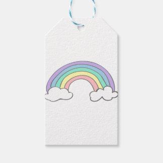 rainbow gift tags