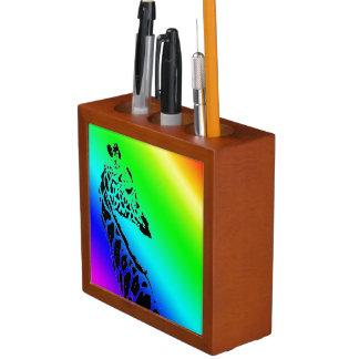 Rainbow Giraffe Desk Organizer