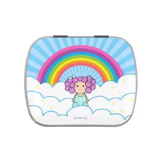 Rainbow Girl Candy Tin