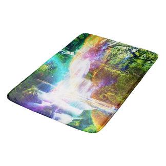 Rainbow Girl Garden Bathroom Mat