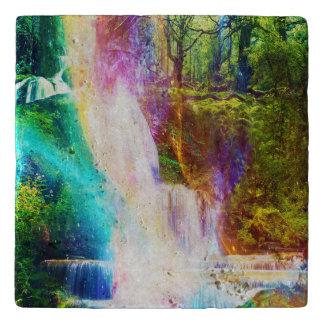 Rainbow Girl Garden Trivet