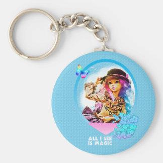 Rainbow Girl Keychain