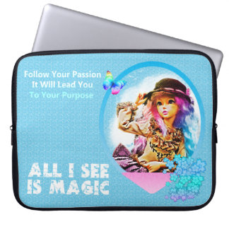 Rainbow Girl Laptop Computer Sleeves