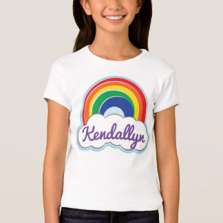 RAINBOW | girls personalized fitted tee