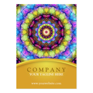 Rainbow Glass Mandala - chubby Large Business Card