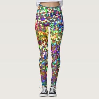 Rainbow Glitter Leggings