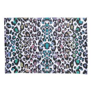 Rainbow Glitter Leopard Print Pillowcase Pair