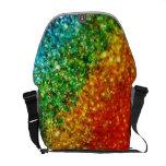 Rainbow Glitter Messenger Bag