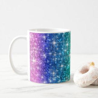 Rainbow Glitter Mug