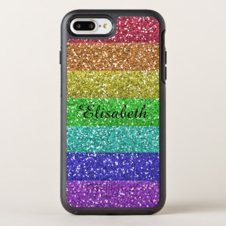 Rainbow, Glitter, Personalized with Name OtterBox Symmetry iPhone 8 Plus/7 Plus Case