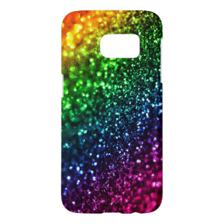 Rainbow Glitter Psychedelic Samsung Galaxy S7 Case