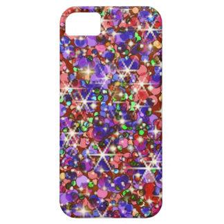 Rainbow glitter sparkle iPhone 5 cover