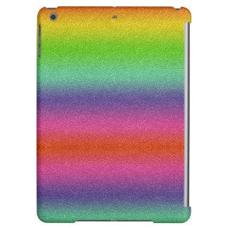 Rainbow Glitter Texture Glossy iPad Case
