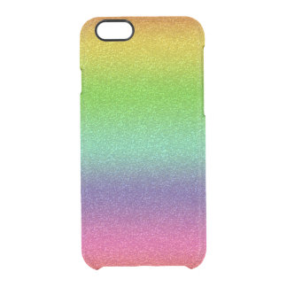 Rainbow Glitter Texture iPhone Clearly™ Deflector Clear iPhone 6/6S Case