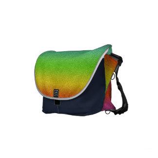 Rainbow Glitter Texture Messenger Bag