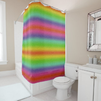 Rainbow Glitter Texture Shower Curtain