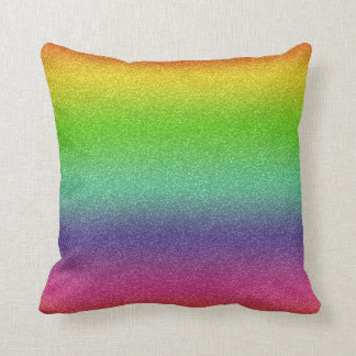 Rainbow Glitter Texture Throw Pillow