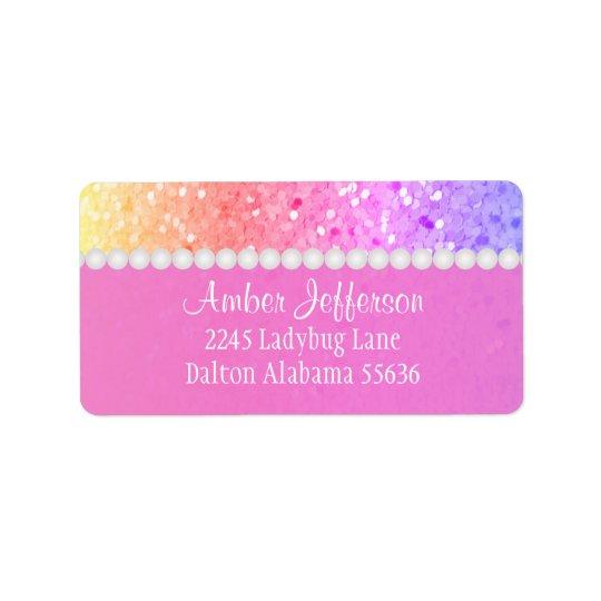 Rainbow Glitterl: Address Labels