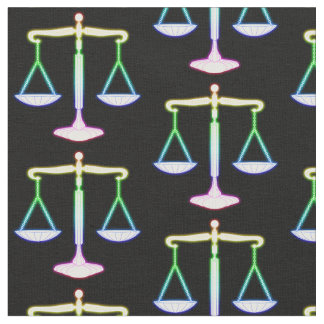 Rainbow Glowing Scales of Justice | Unique Gifts Fabric