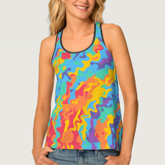 Rainbow Go Crazy Racerback Tank Top