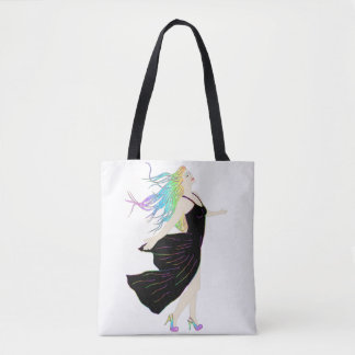 Rainbow Goddess Tote Bag