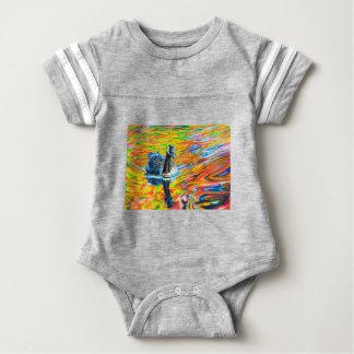 Rainbow Goose Baby Bodysuit