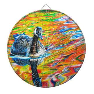 Rainbow Goose Dartboard