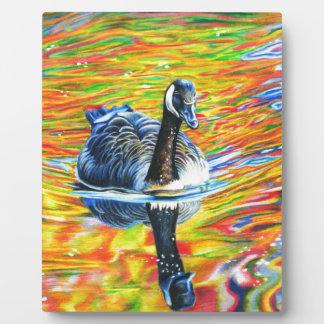 Rainbow Goose Plaque