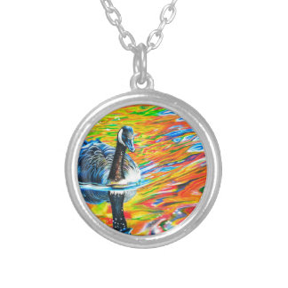 Rainbow Goose Silver Plated Necklace