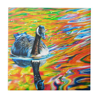 Rainbow Goose Tile