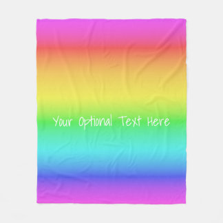 Rainbow Gradient custom fleece blankets
