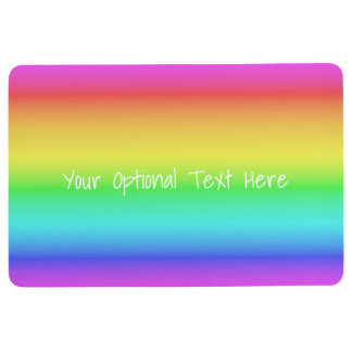 Rainbow Gradient custom floor mat