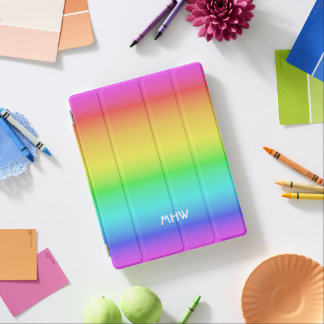 Rainbow Gradient custom monogram device covers