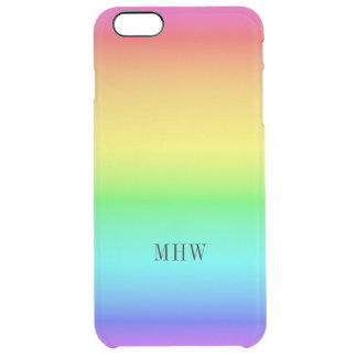 Rainbow Gradient custom monogram phone cases