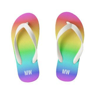 Rainbow Gradient custom monogram sandals