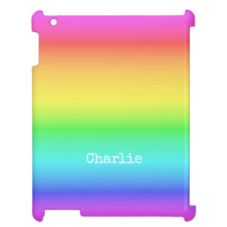 Rainbow Gradient custom name device cases Case For The iPad 2 3 4