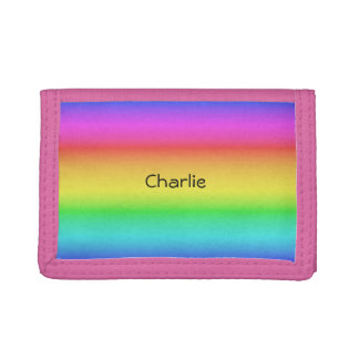 Rainbow Gradient custom name wallets