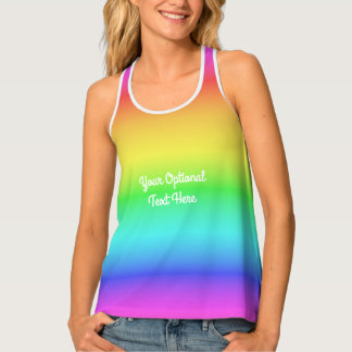 Rainbow Gradient custom tank top