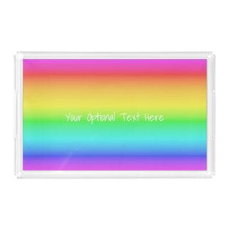 Rainbow Gradient custom text trays