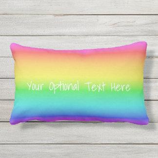 Rainbow Gradient custom throw pillows